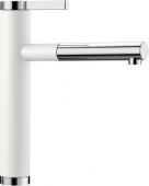Blanco Linee-S - Küchenarmatur Silgranit-Look zweifarbig Hochdruck Silgranitweiß/chrom