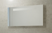 Burgbad Crono - Spiegel mit horizontaler Beleuchtung 1200 x 640 mm weiß hochglanz