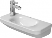 Duravit DuraStyle - Handwaschbecken 500 mm ohne Überlauf mit Hahnlochbank Hahnlöcher links weiß