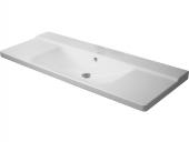 Duravit P3 Comforts - Möbelwaschtisch 1250 mm ohne Hahnloch weiß