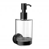 Emco Round - Seifenspender Glasteil satiniert Kunststoffpumpe