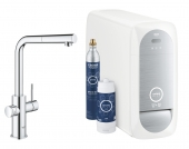 Grohe Blue Home - Starter Kit Mousseur Bluetooth/WIFI L-Auslauf chrom