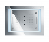 """Grohe Rainshower F-Series 40"""" AquaSymphony - Deckenbrause 6+ Strahlarten mit Licht chrom"""