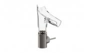 Hansgrohe Axor Starck V - Waschtischmischer 140 mit Glasausl.-Facettenschliff brushed black chrome