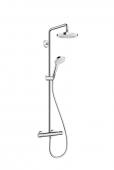 Hansgrohe Croma Select E 180 - 2jet Showerpipe EcoSmart weiß / chrom
