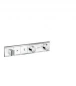 Hansgrohe RainSelect - Thermostat Unterputz Fertigset 2 Verbraucher weiß / chrom