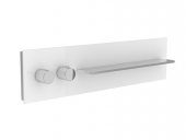 Keuco meTime_spa - Thermosttatbatterie 56161 for 1 consumers, handles li, glass anthracite.