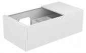 Keuco Edition 11 - Waschtischunterschrank 1 Frontauszug weiß / Glas weiß
