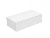 Keuco Edition 400 - Sideboard 1 Auszug weiß / Glas anthrazit klar