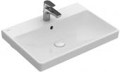 Villeroy & Boch Avento - Waschtisch 650 x 470 mm mit Überlauf weiß alpin
