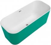 Villeroy & Boch Finion - Badewanne CoD Ventil ÜL Wasserzulauf Design-Ring verchromt white alpin