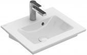 Villeroy & Boch Venticello - Handwaschbecken 500 x 420 mm mit Überlauf stone white mit CeramicPlus