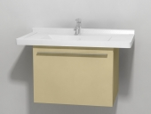 Duravit X-Large - Waschtischunterbau wandhängend Cappuccino Hochglanz Lack 600 mm