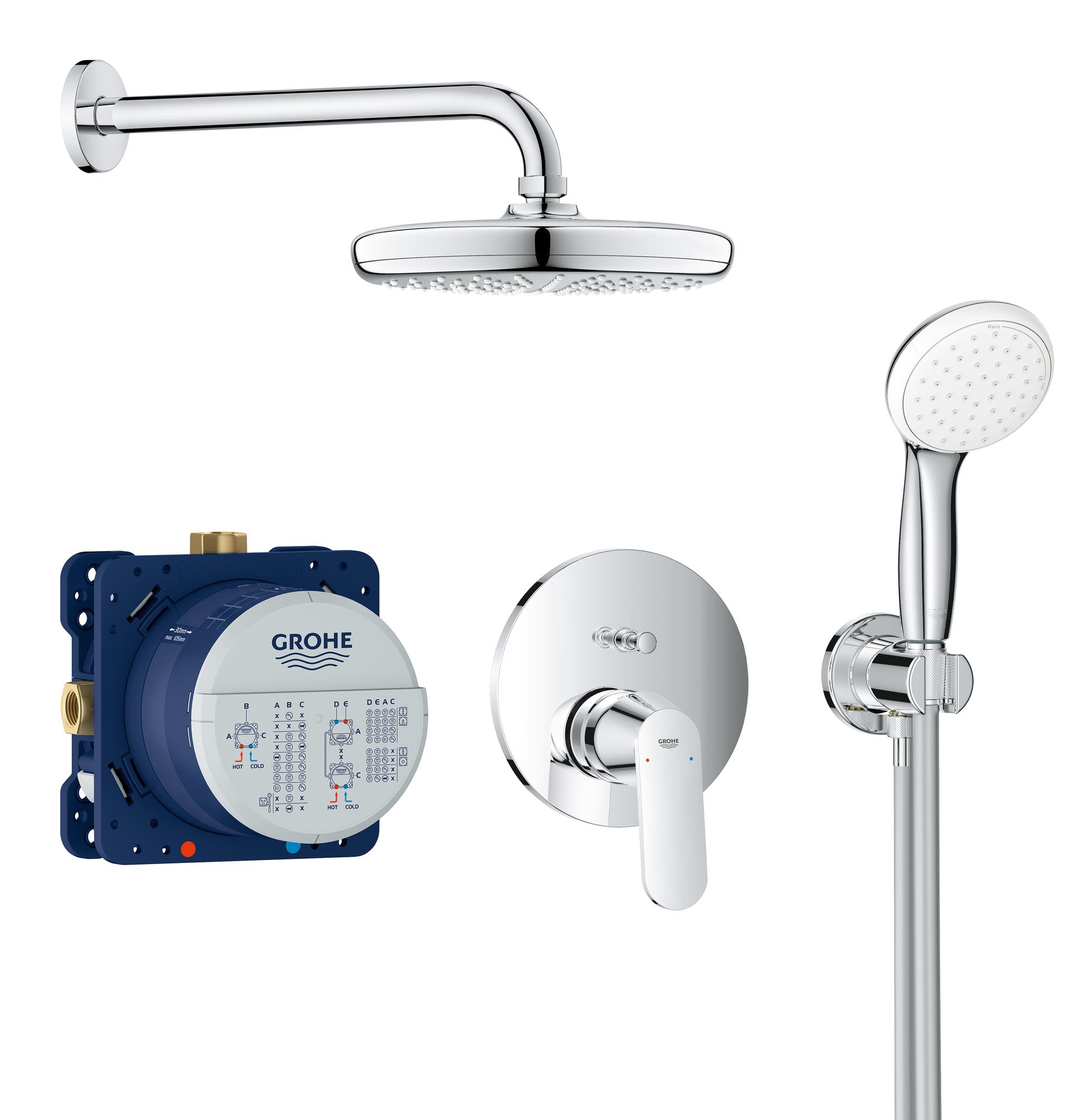 Brause- und Duschsysteme Handbrause 27597001 Chrom GROHE Tempesta 100 2 Strahlarten