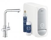 Grohe Blue Home - Starter Kit Mousseur Bluetooth/WIFI L-Auslauf chrom