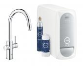 Grohe Blue Home - Starter Kit Mousseur Bluetooth/WIFI C-Auslauf chrom