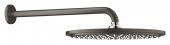Grohe Rainshower Cosmopolitan - Kopfbrauseset 310 Brausearm 380 mm hard graphite gebürstet