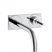 Hansgrohe Axor Uno - Einhebel-Waschtischmischer Unterputz mit Auslauf 225 mm und Platte für Wandmontage
