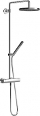 Hansa Hansatempra style - Shower system with thermostatic shower mixer, DN 15 (G 1/2)
