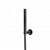 Steinberg Serie 100 S - Handbrause mit Wandhalter und Metallbrauseschlauch schwarz