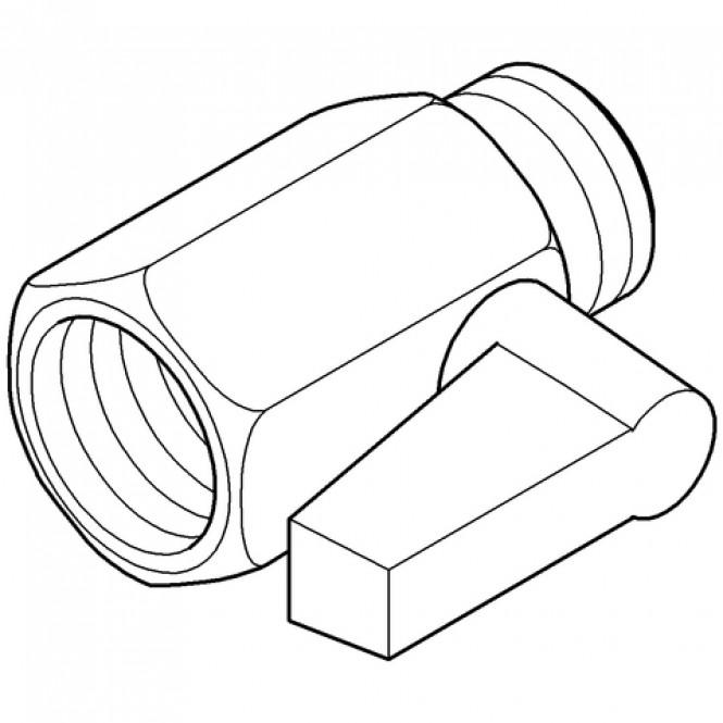 Grohe - Vorabsperrung 42116 für Warmwasser für Europlus E Unterputz-Einbaukasten