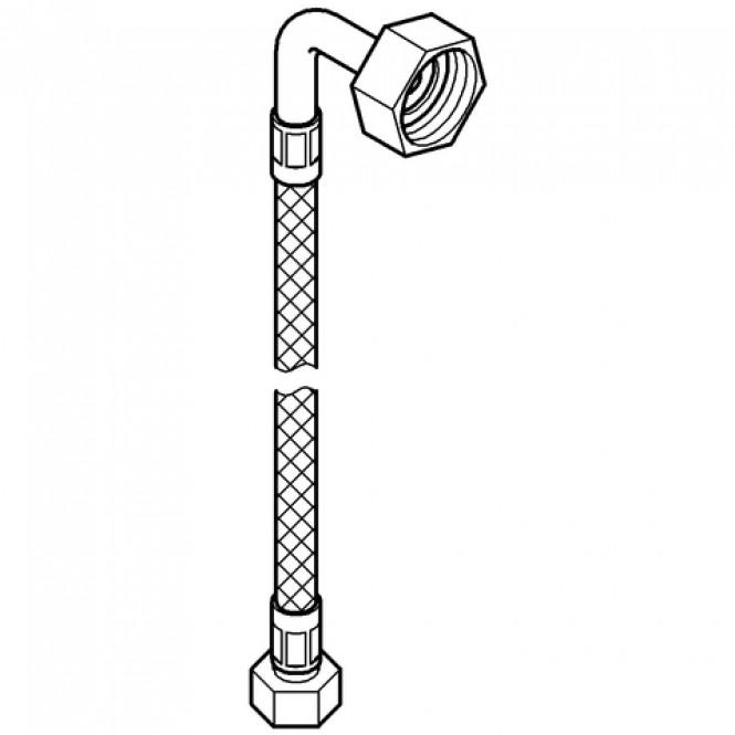 "Grohe - Druckschlauch 45417 flexibel M15 x 1 x 3 / 4"" 1500 mm chrom"