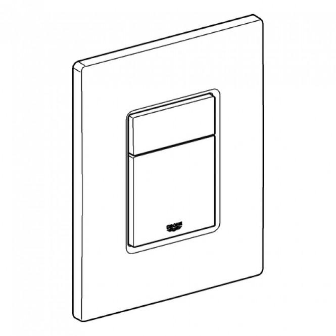 Grohe - Abdeckplatte mit Drucktaste edelstahl