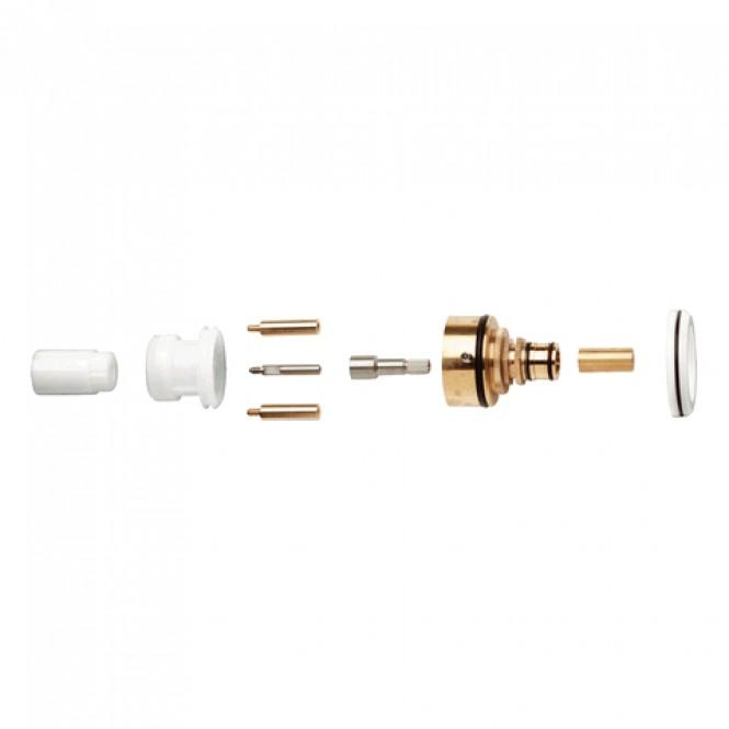 Grohe - Verlängerung 47653 für THM Brause UP nicht steigende Spindel 27,5 mm chrom