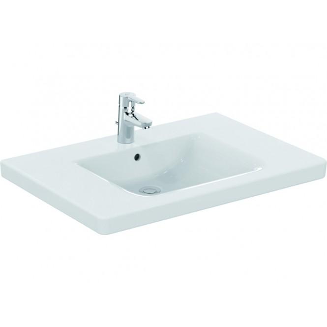 Ideal Standard CONNECT FREEDOM - Lavabo 800x555mm avec 1 trou de robinetterie avec trop-plein blanc sans IdealPlus