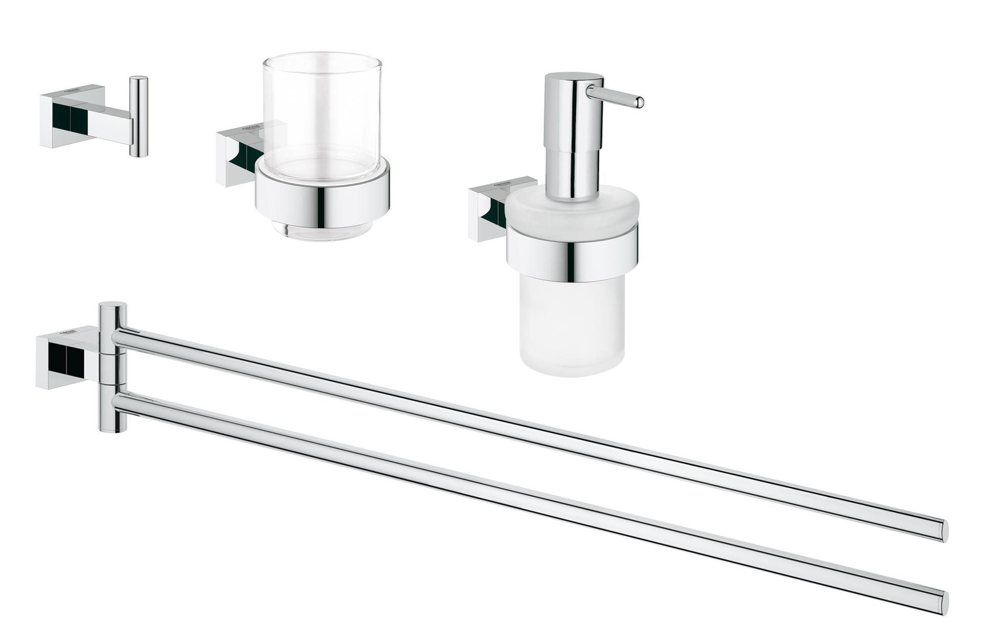 100% quality great look buy best GROHE Essentials Cube Ensemble accessoires WC 4 en 1 chrome ...