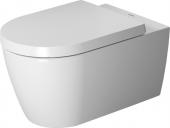 Duravit ME by Starck - Wand-Tiefspül-WC 570 mm mit Durafix rimless weiß/weiß seidenmatt HygieneGlaze