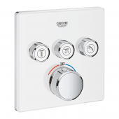 Grohe Grohtherm SmartControl - Thermostat eckig 3 Absperrventile moon white