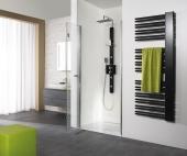 HSK - Un pliage articulé niche de porte, 41 chrome-look 1000 x 1850 mm, 50 ESG lumineuse et claire