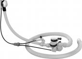 Duravit - Mehrpreis für Ab-und Überlaufgarnitur mit Drehgriff matt Bodenzulauf Flexschlauch