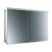 Emco Asis Evo - LED-Lichtspiegelschrank Unterputz 1000 mm 2-türig
