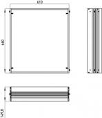 Emco Asis Prestige - Cadre de montage à 989705006/16, 610x660 mm