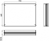 Emco Asis Prestige - Cadre de montage à 989705007/17, 910x660 mm