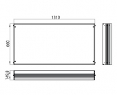 Emco Asis Prestige - Cadre de montage à 989705009/19, 1310x660 mm