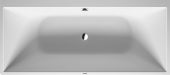 Duravit DuraSquare - Badewanne 1800 x 800 mm mit Ecke rechts weiß