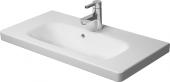Duravit DuraStyle - Möbelwaschtisch Compact für Einlocharmatur mit WonderGliss weiß