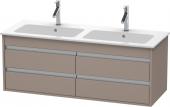 Duravit Ketho - Meuble sous-vasque 1270 x 480 x 475 mm avec 4 tiroirs basalte mat