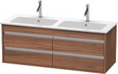 Duravit Ketho - Meuble sous-vasque 1270 x 480 x 475 mm avec 4 tiroirs noyer naturel