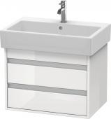 Duravit Ketho - Meuble sous-vasque 650 x 480 x 440 mm avec 2 tiroirs blanc brillant
