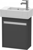Duravit Ketho - Meuble sous-vasque 450 x 550 x 225 mm avec 1 porte & charnières de portes à gauche graphite mat