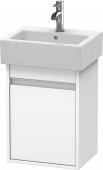 Duravit Ketho - Meuble sous-vasque 400 x 550 x 320 mm avec 1 porte & charnières de portes à gauche blanc mat