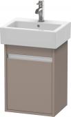 Duravit Ketho - Meuble sous-vasque 400 x 550 x 320 mm avec 1 porte & charnières de portes à gauche basalte mat