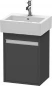 Duravit Ketho - Meuble sous-vasque 400 x 550 x 320 mm avec 1 porte & charnières de portes à gauche graphite mat