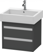 Duravit Ketho - Meuble sous-vasque 550 x 480 x 440 mm avec 2 tiroirs graphite mat