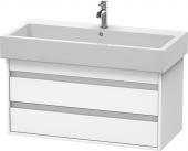 Duravit Ketho - Meuble sous-vasque 950 x 480 x 440 mm avec 2 tiroirs blanc mat