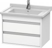 Duravit Ketho - Meuble sous-vasque 650 x 480 x 465 mm avec 2 tiroirs blanc mat